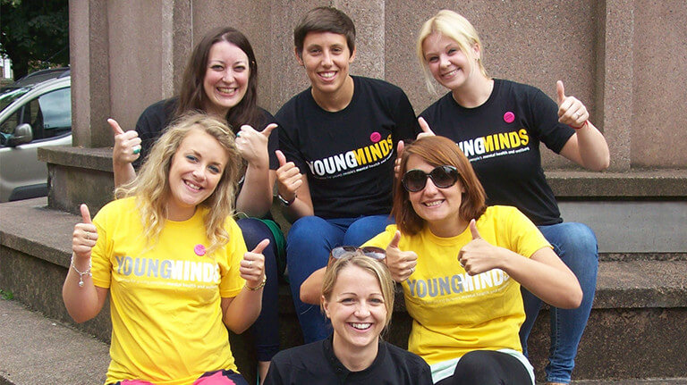 Photo of YoungMinds skydiving team