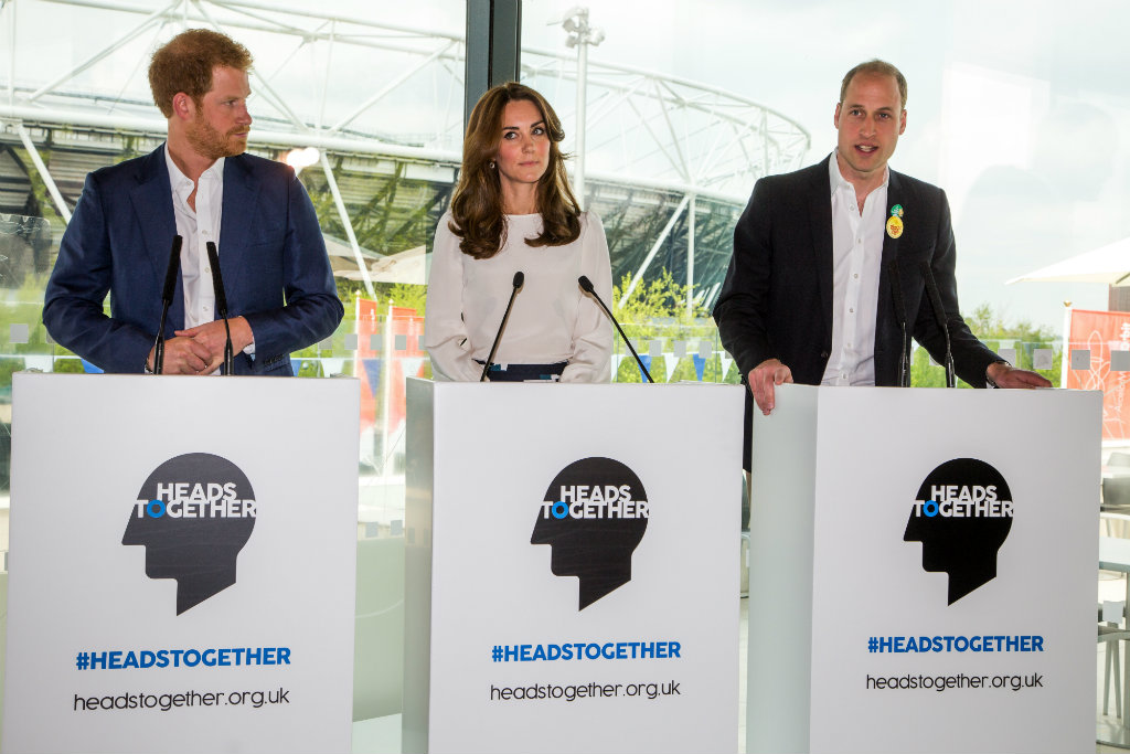 Duke of Cambridge, Duchess of Cambridge and Prince Henry of Wales speaking