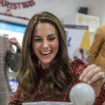 The Duchess of Cambridge enjoying making festive decorations.