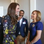 The Duchess of Cambridge with Sian Williams